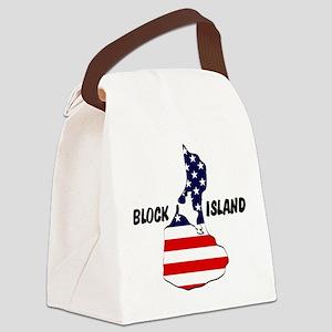Block Island USA Canvas Lunch Bag
