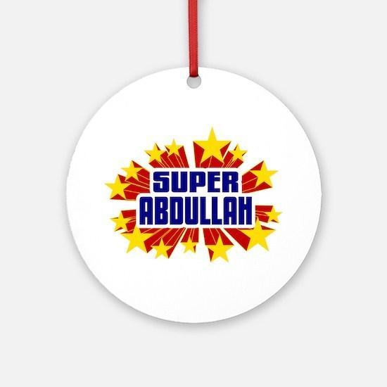 Abdullah the Super Hero Ornament (Round)