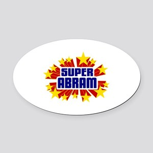 Abram the Super Hero Oval Car Magnet