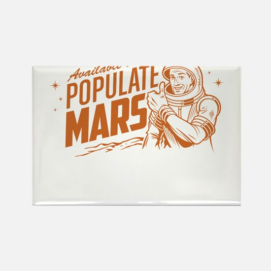 Available To Populate Mars (Man) Rectangle Magnet