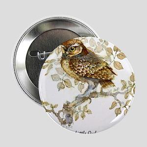 """Little Owl Peter Bere Design 2.25"""" Button"""