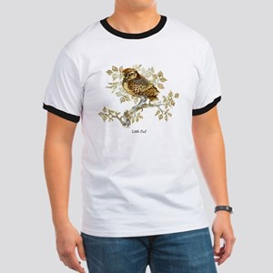 Little Owl Peter Bere Design Ringer T