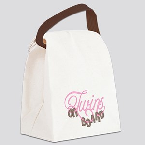 Twins on Board 1 Canvas Lunch Bag