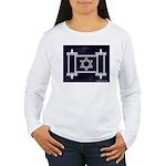 Star Of David Torah Scroll Women's Long Sleeve T-S