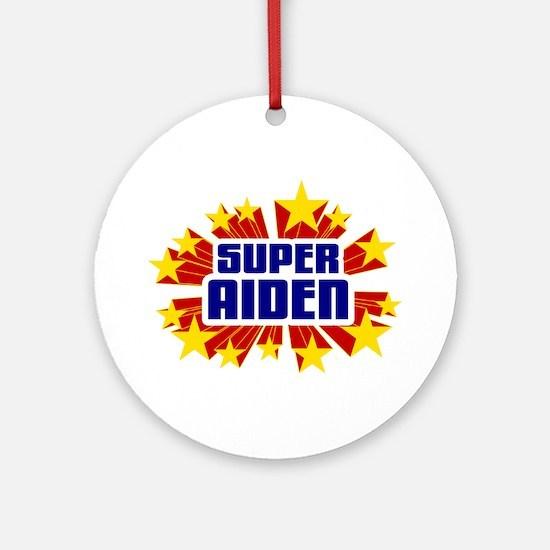 Aiden the Super Hero Ornament (Round)