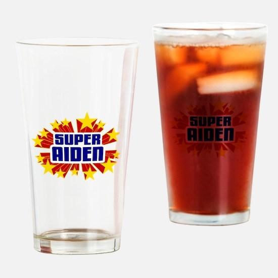 Aiden the Super Hero Drinking Glass