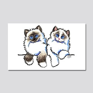 Ragdolls Pair Off-Leash Art™ Car Magnet 20 x 12