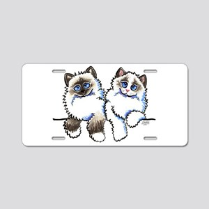 Ragdolls Pair Off-Leash Art™ Aluminum License Plat