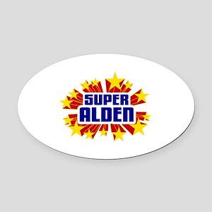 Alden the Super Hero Oval Car Magnet