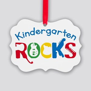 Kindergarten Rocks Ornament