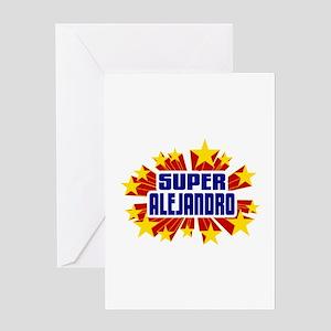Alejandro the Super Hero Greeting Card