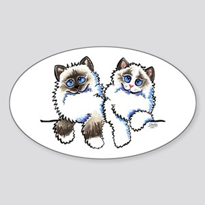 Ragdolls Pair Off-Leash Art™ Sticker