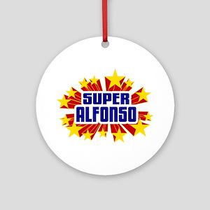 Alfonso the Super Hero Ornament (Round)