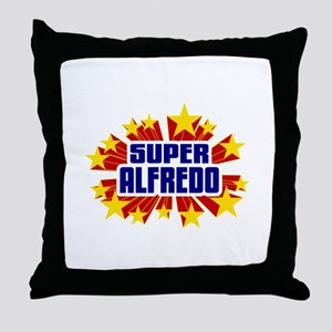 Alfredo the Super Hero Throw Pillow