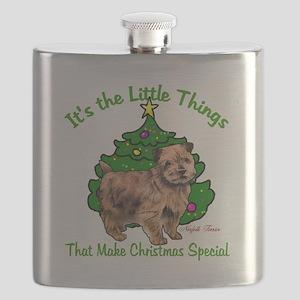 Norfolk Terrier Christmas Flask