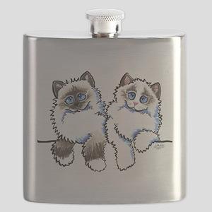 Ragdolls Pair Off-Leash Art™ Flask