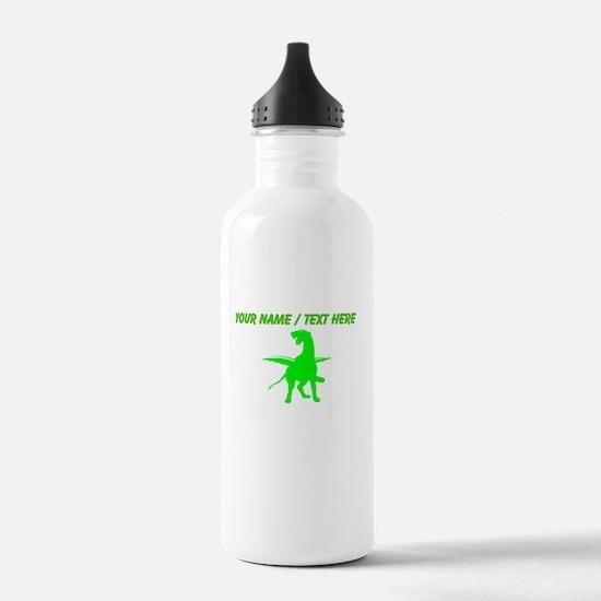 Custom Green Alien Dragon Water Bottle