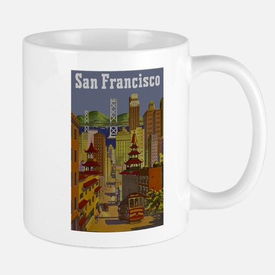Vintage San Francisco Travel Mug