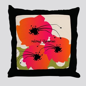 Retired Librarian Throw Pillow