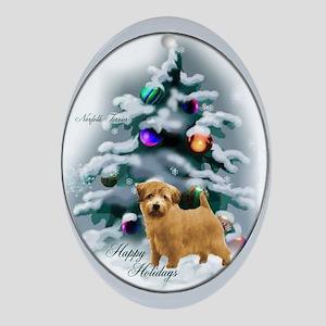 Norfolk Terrier Christmas Oval Ornament
