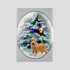 Norfolk Terrier Christm Rectangle Magnet (10 pack)