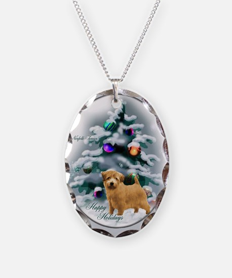 Norfolk Terrier Christmas Necklace