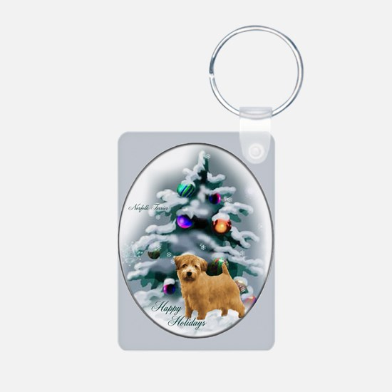 Norfolk Terrier Christmas Keychains