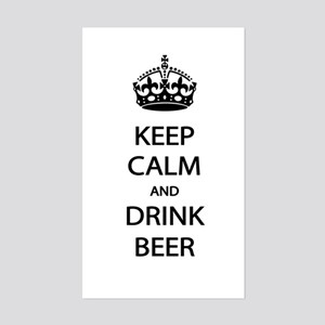 Keep Calm Drink Beer Sticker