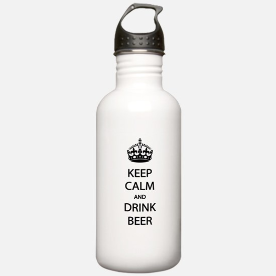 Keep Calm Drink Beer Water Bottle