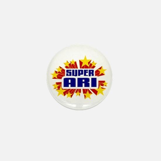 Ari the Super Hero Mini Button