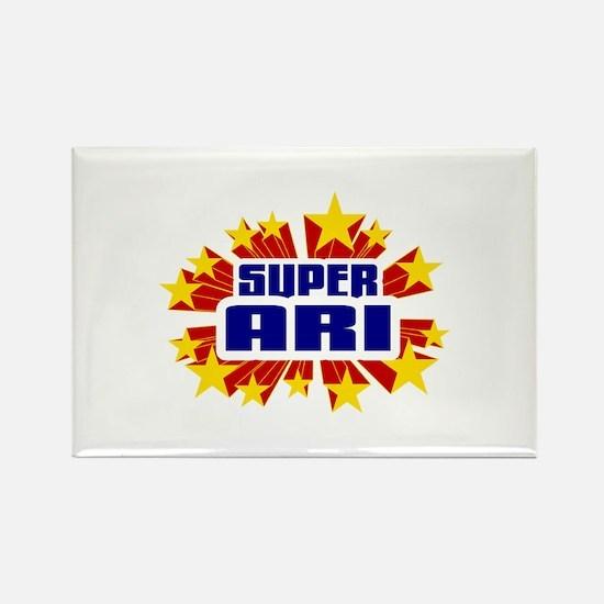 Ari the Super Hero Rectangle Magnet