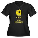 Women's Nikon - Keep Calm Women's Plus Size V-Neck