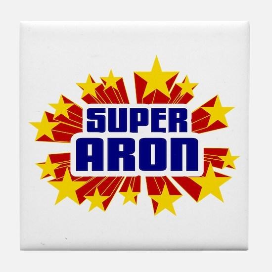Aron the Super Hero Tile Coaster