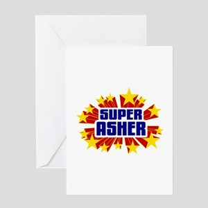 Asher the Super Hero Greeting Card