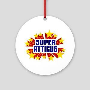 Atticus the Super Hero Ornament (Round)