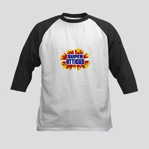 Atticus the Super Hero Baseball Jersey