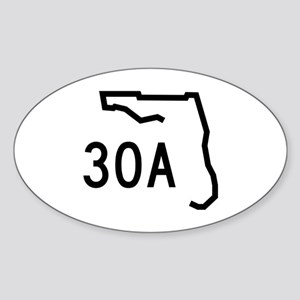 30A Florida Coast Sticker (Oval)