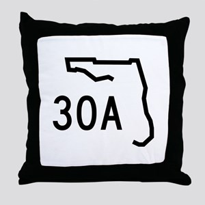 30A Florida Coast Throw Pillow