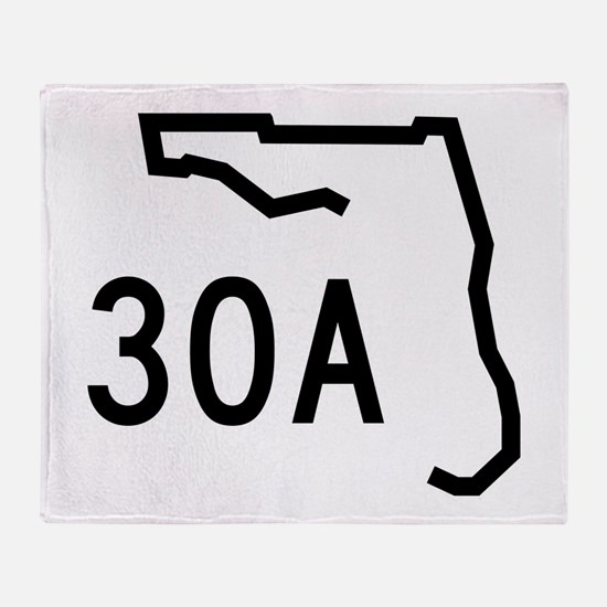 30A Florida Coast Throw Blanket