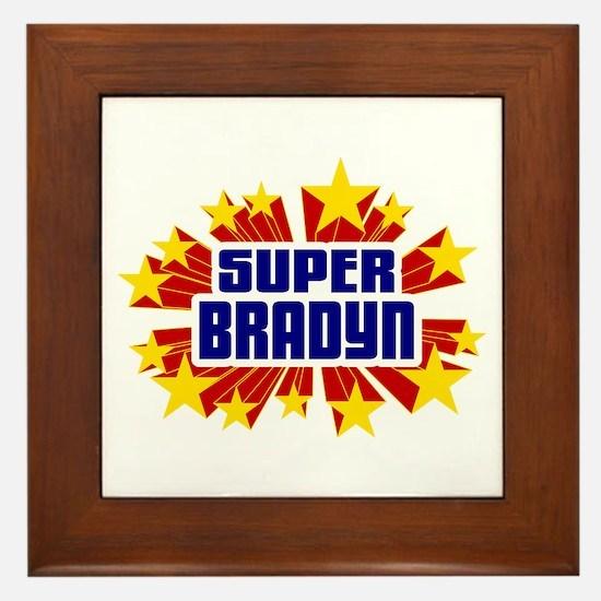 Bradyn the Super Hero Framed Tile