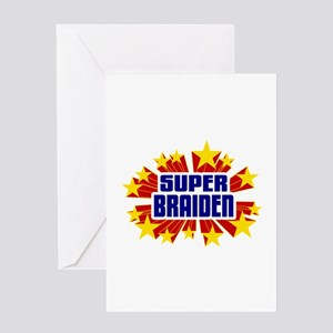 Braiden the Super Hero Greeting Card