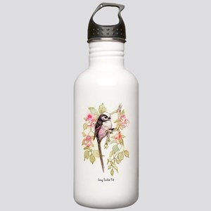 Long Tailed Tit Peter Bere Design Water Bottle