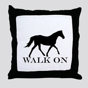 Walk on Tennessee Walker Hoodie Throw Pillow