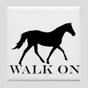 Walk on Tennessee Walker Hoodie Tile Coaster