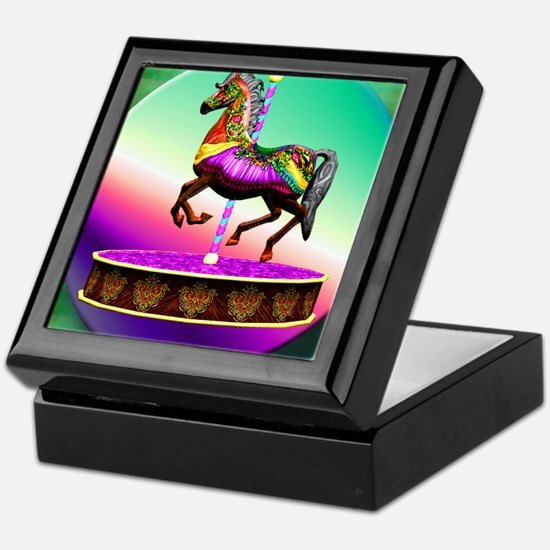 Carousel Horse Keepsake Box