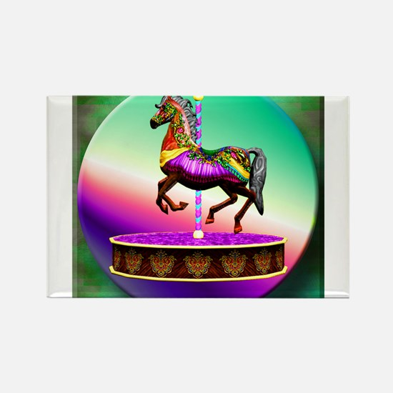 Carousel Horse Rectangle Magnet
