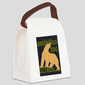 Polar Bear Zoo Canvas Lunch Bag