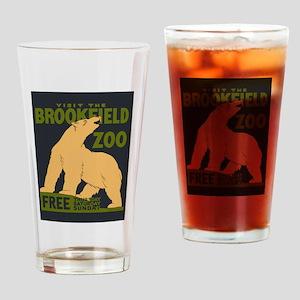 Polar Bear Zoo Drinking Glass