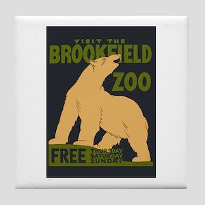 Polar Bear Zoo Tile Coaster
