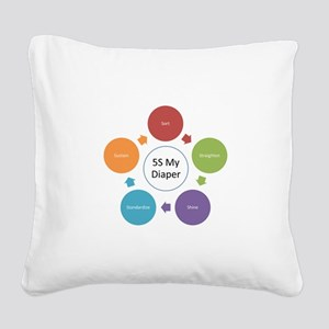 5S My Diaper Square Canvas Pillow